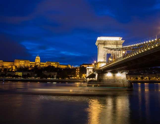 Buda Castle Chain Bridge Danube Europe