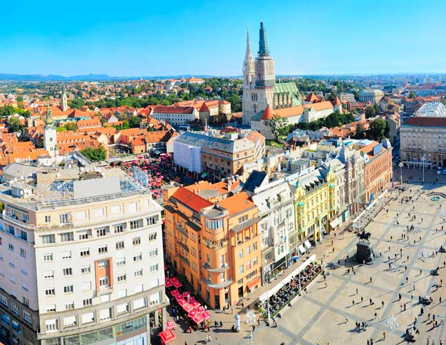 Best Zagreb City Centre Aerial View