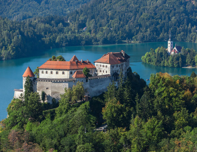 Bled Castle Aerial View