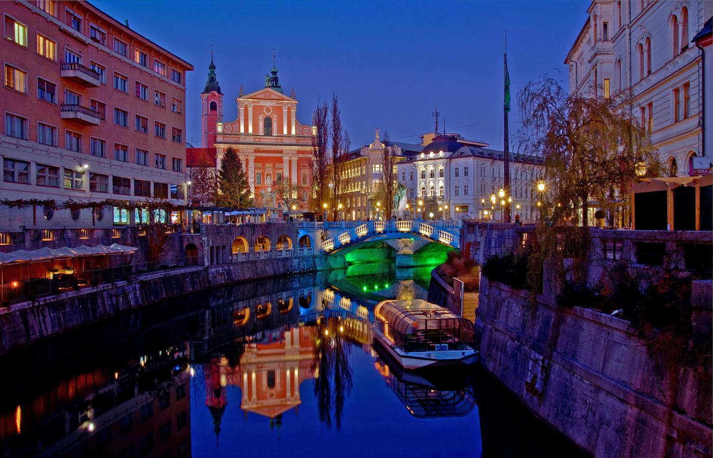 Ljubljana Centre Nightshot Family